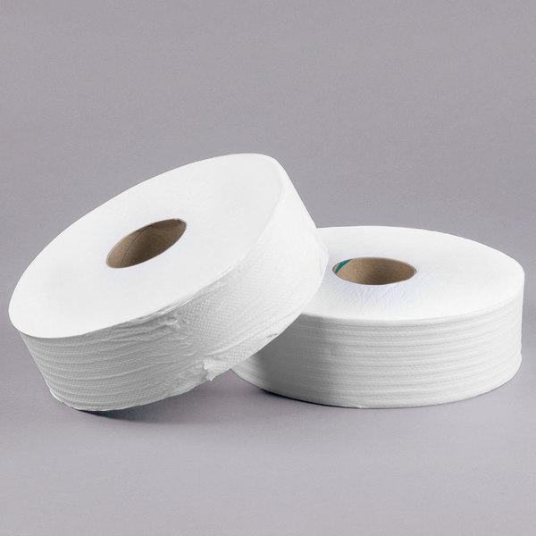 200m Pack of 12 WTS952002 SAPPHIRE 2 Ply White Mini Jumbo Toilet Rolls