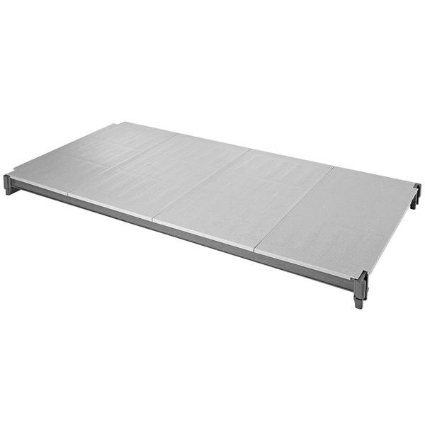 "Cambro EMSK2436S1580 Camshelving® Elements 24"" x 36"" Solid Shelf Kit for Mobile Units"