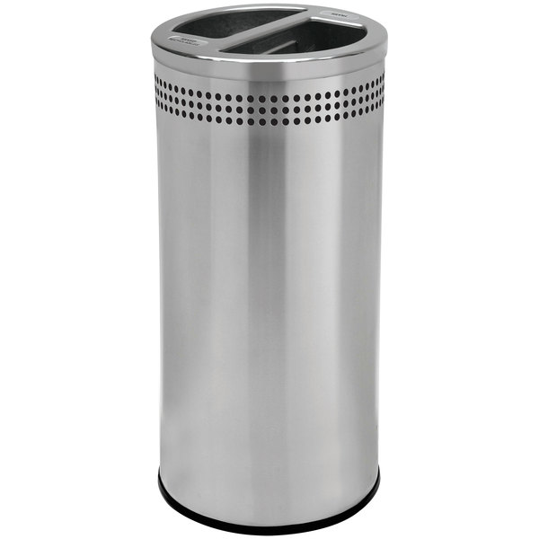 Commercial Zone 745829 Precision 20 Gallon Stainless Steel Trash / Recycling Receptacle Main Image 1