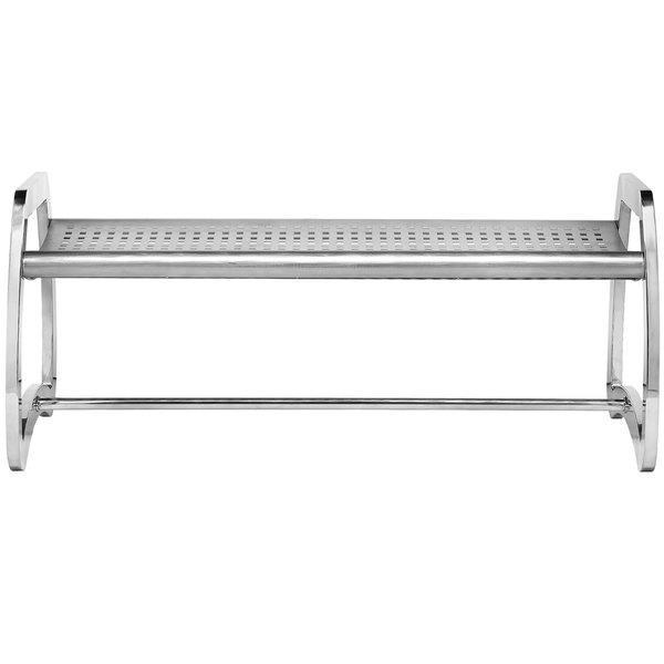 Commercial Zone 725229 Skyline Series 4' Stainless Steel Indoor / Outdoor Bench