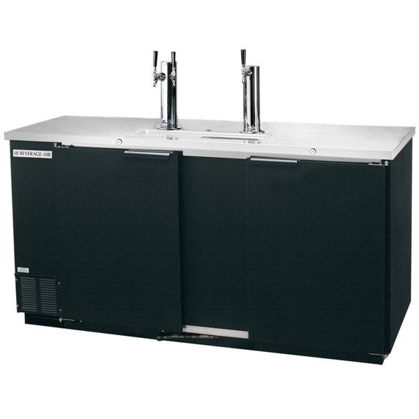 Beverage-Air DD68HC-1-B-016 (2) Double Tap Kegerator Beer Dispenser - Black, (3) 1/2 Keg Capacity