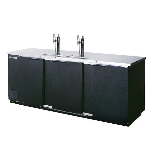 Beverage-Air DD94HC-1-B-069 (2) Triple Tap Kegerator Beer Dispenser - Black, (5) 1/2 Keg Capacity Main Image 1