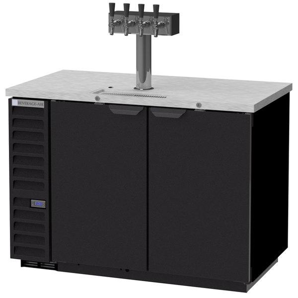 Beverage-Air DD50HC-B-138 Four Tap Kegerator Beer Dispenser - Black, (2) 1/2 Keg Capacity