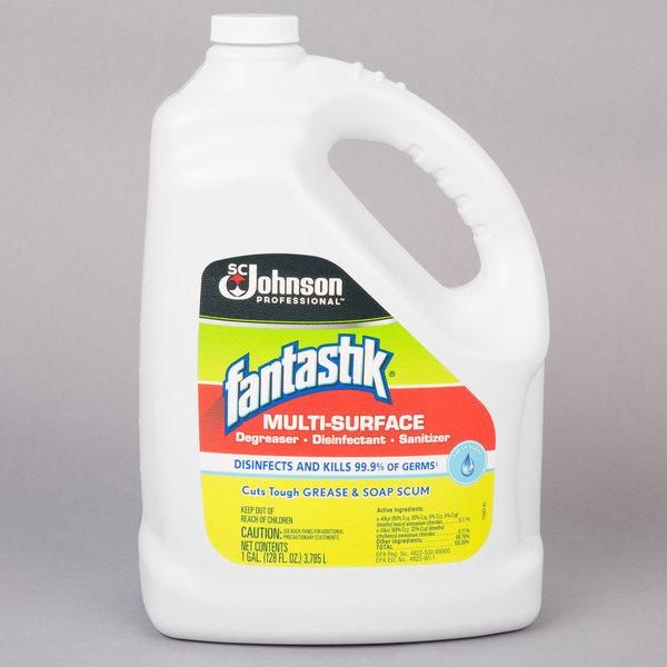 SC Johnson 682269 Fantastik® 1 gallon / 128 oz. Multi-Surface Disinfectant Cleaner