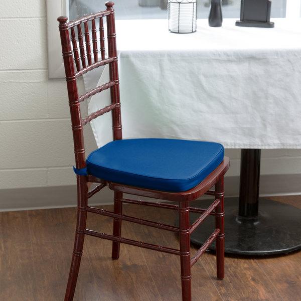 "Lancaster Table & Seating Royal Blue Chiavari Chair Cushion - 1 3/4"" Thick"