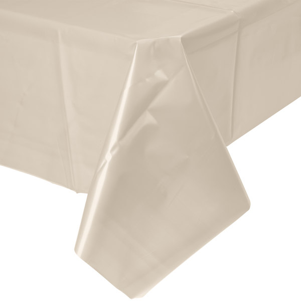 Ivory Disposable Plastic Table Cover Image Preview Main Picture