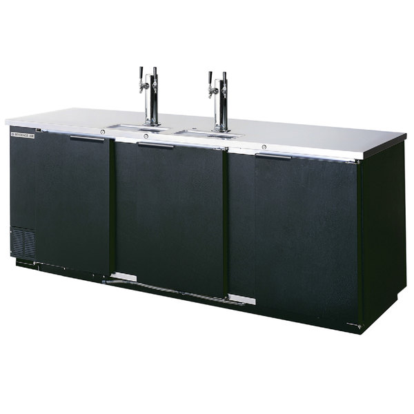 Beverage-Air DD94-1-B 95 inch Black Beer Dispenser - 5 Keg Kegerator