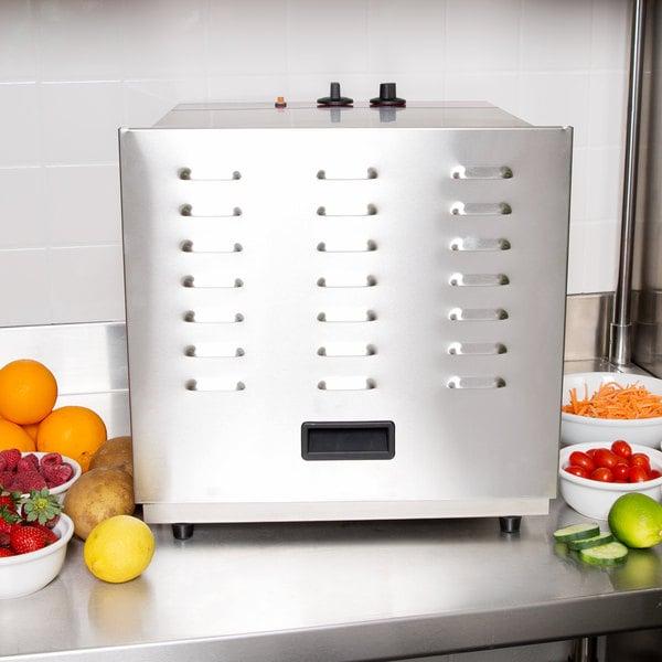 Avantco CFD10 Ten Rack Stainless Steel Food Dehydrator with Removable Door - 1000W