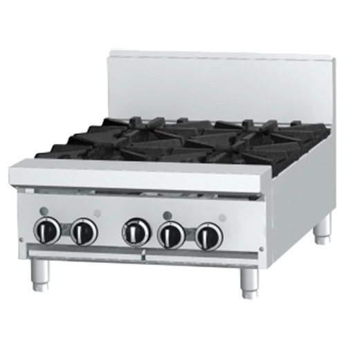 "Garland GF24-2G12T Natural Gas 2 Burner Modular Top 24"" Range with Flame Failure Protection and 12"" Griddle - 70,000 BTU"