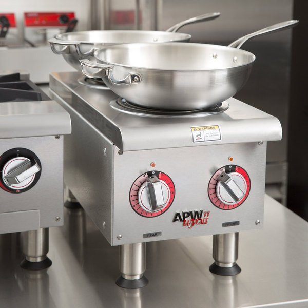 APW Wyott EHPi Dual Burner Countertop Electric Range - 240V