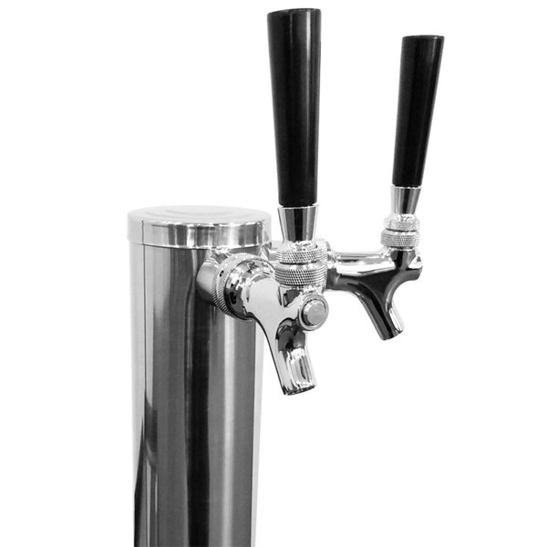"Turbo Air 153AS Stainless Steel 2 Tap Beer Tower - 3"" Column"
