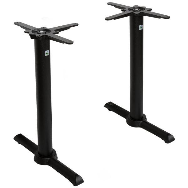 "FLAT Tech CT2030 22"" Auto Adjustable Black End Table Base Set"