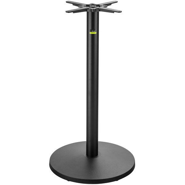 "FLAT Tech UR22 22"" Bar Height Auto Adjustable Round Black Table Base Main Image 1"