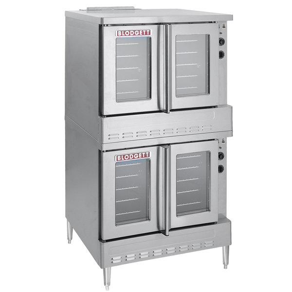 Blodgett SHO-100-G Liquid Propane Double Deck Full Size Convection Oven - 100,000 BTU Main Image 1