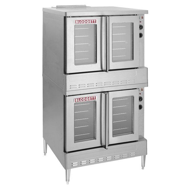 Blodgett ZEPHAIRE-200-G Liquid Propane Double Deck Full Size Bakery Depth Convection Oven with Draft Diverter - 120,000 BTU Main Image 1