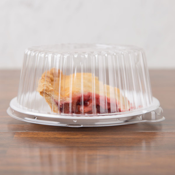 """Dart CL6P 6"""" Clear Dome Lid for Foam Dinnerware - 125/Pack"""
