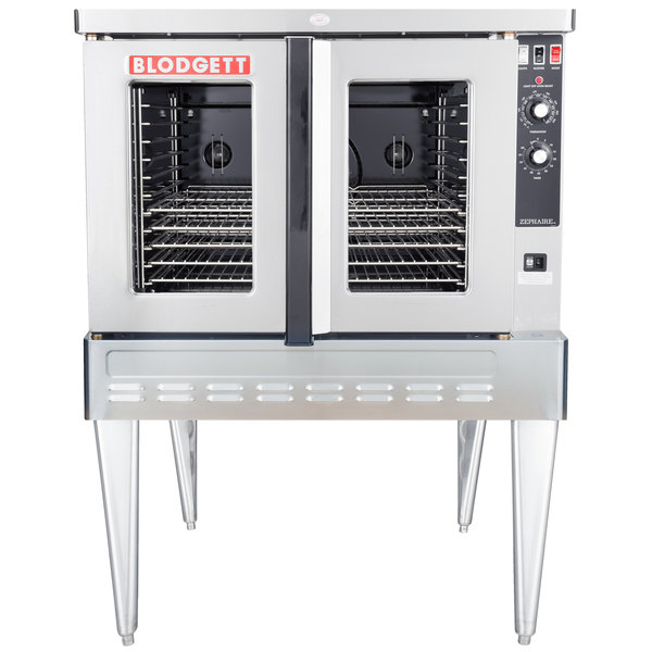 Blodgett ZEPHAIRE-100-G Single Deck Liquid Propane Full Size Standard Depth Convection Oven with Draft Diverter - 50,000 BTU Main Image 1