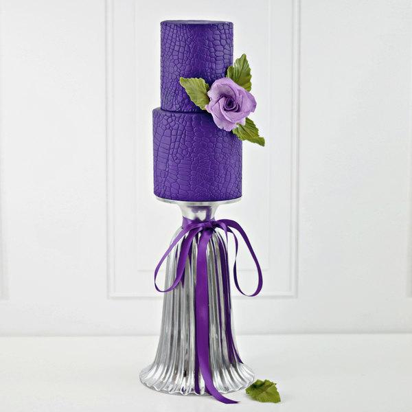 Satin Ice 10025 5 lb. Purple Vanilla Rolled Fondant Icing
