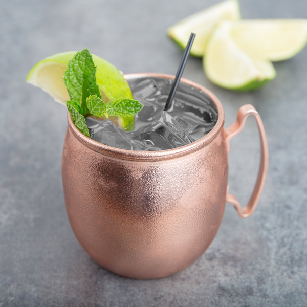 World Tableware CMM-100 14 oz. Moscow Mule Mug with Copper Finish