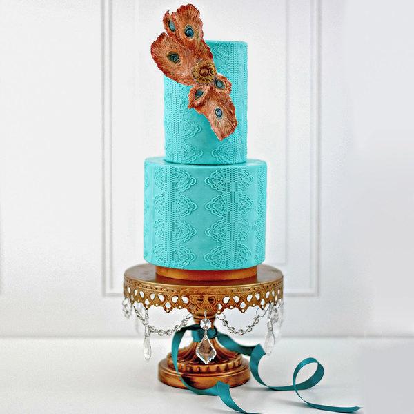 Satin Ice 5 lb. Turquoise Vanilla Rolled Fondant Icing Main Image 5