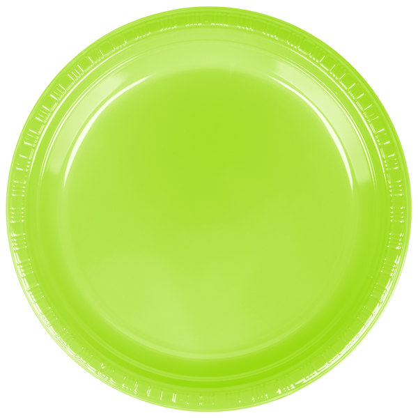 When your event requires reliable tableware that\u0027s disposable too the Creative Converting 28312321 9\  Fresh Lime green plastic dinner plate is the way to ...  sc 1 st  WebstaurantStore & Creative Converting 28312321 9\