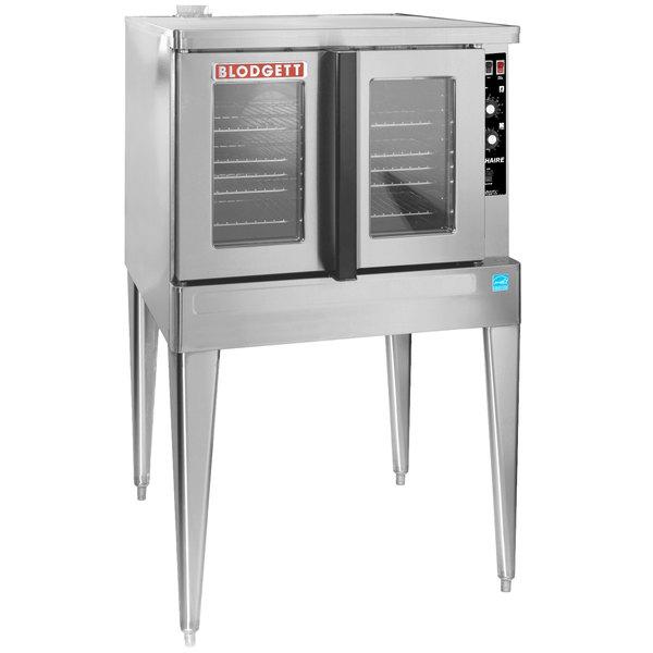 Blodgett ZEPHAIRE-200-G-ES Liquid Propane Single Deck Full Size Bakery Depth Convection Oven with Draft Diverter - 50,000 BTU