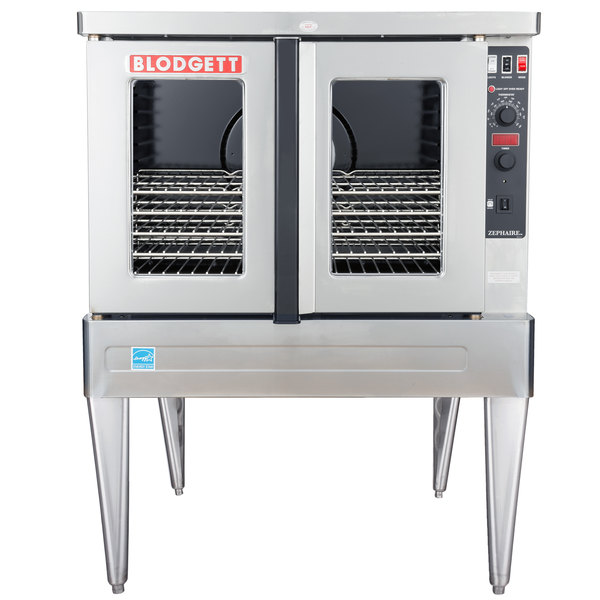 Blodgett ZEPHAIRE-100-E Single Deck Full Size Standard Depth Electric Convection Oven - 220/240V, 1 Phase, 11kW