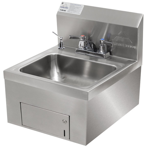 Advance Tabco 7 Ps 65 Wall Mounted Hand Sink With Undermount Paper Towel Dispenser 17