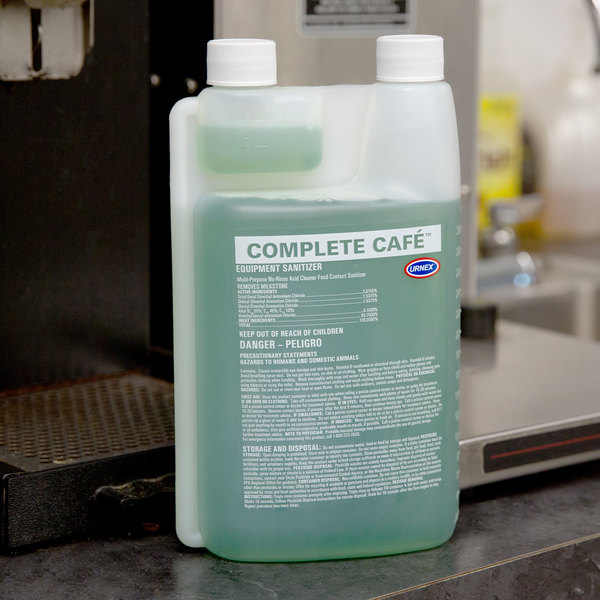 Urnex 15-CPCF6-32 1 Liter / 33. 814 oz. Complete Cafe Coffee Equipment Sanitizer Main Image 4