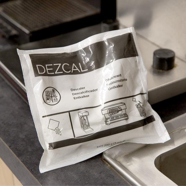 Urnex 15-DEZC24-7 7 oz. Dezcal Coffee Equipment Scale Removing Powder - 24/Case Main Image 3