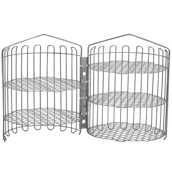 """Winston Industries PS1163 12"""" x 20"""" Clamshell Basket for 6-Head Fryers"""