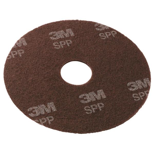 "3M SPP8 Scotch-Brite™ 8"" Surface Preparation Floor Pad - 25/Case Main Image 1"