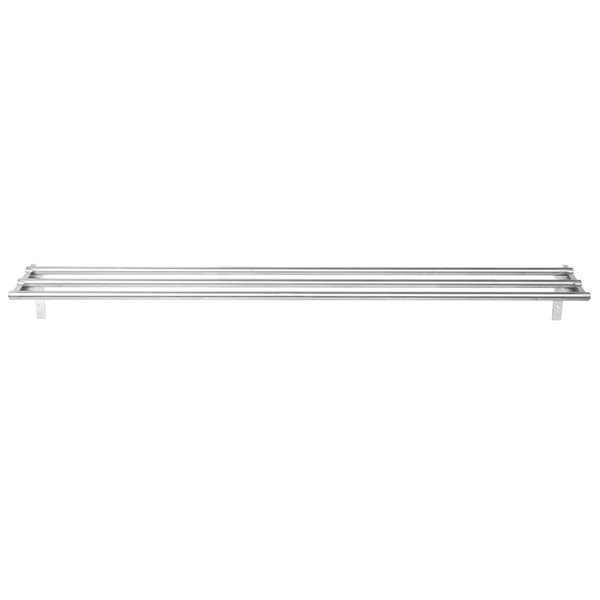 """Eagle Group TSL-DB-HT4 63 1/2"""" x 10 1/2"""" Stainless Steel Tubular Tray Slide with Drop Brackets"""