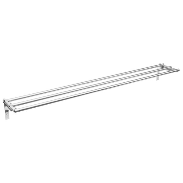 "Eagle Group TSL-DB-HT4 63 1/2"" x 10 1/2"" Stainless Steel Tubular Tray Slide with Drop Brackets"