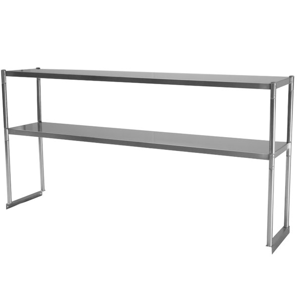 "Turbo Air TSOS-5R Stainless Steel Double Overshelf - 60"" x 12 13/16"""