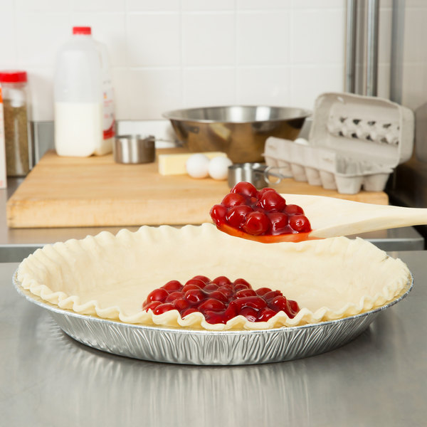 "Baker's Mark 12"" x 1 3/8"" Extra Deep Foil Pie Pan - 20/Pack Main Image 4"