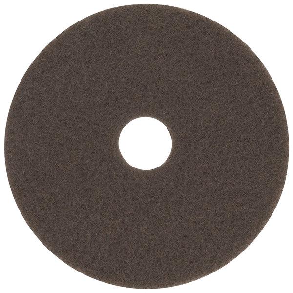 "3M 7100 20"" Brown Stripping Floor Pad - 5/Case Main Image 1"