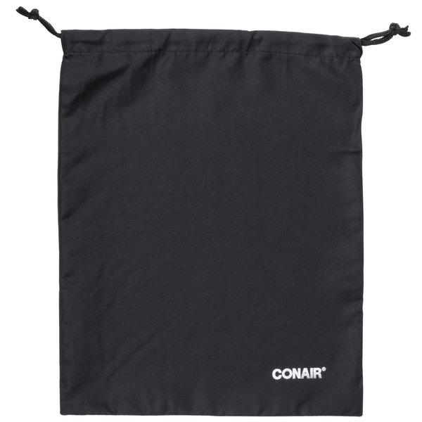 "Conair BAG-DRYER 15"" x 12"" Black Drawstring Hair Dryer Storage Pouch - 100/Case Main Image 1"