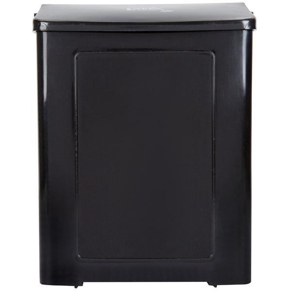 Lavex Janitorial Black Plastic Wall Mount Sanitary Napkin