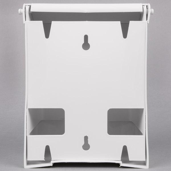 Lavex Janitorial White Plastic Wall Mount Sanitary Napkin