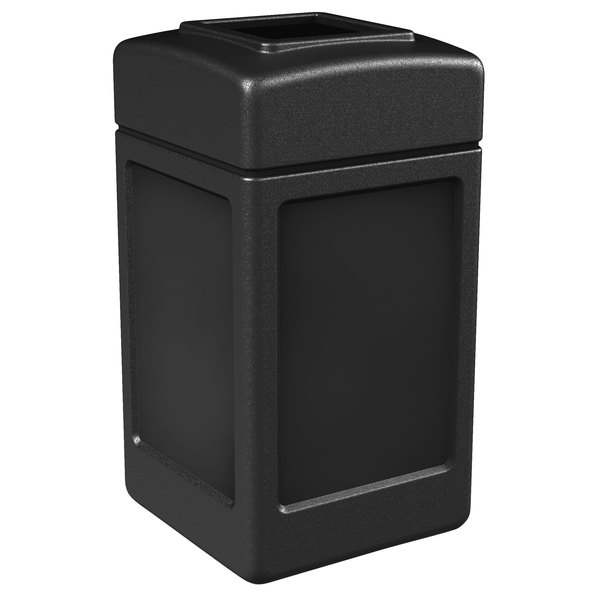Commercial Zone 732101 PolyTec 42 Gallon Black Waste Container