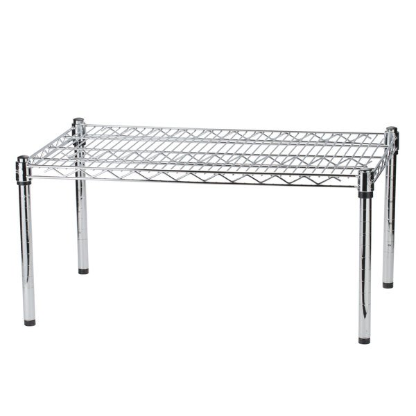 Regency 36 inch x 24 inch x 14 inch Chrome Plated Wire Dunnage Rack - 600 lb. Capacity