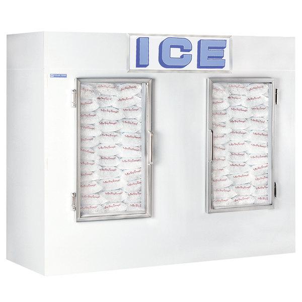 Polar Temp 1000CWG Two Door Cold Wall Indoor Ice Merchandiser - 100 cu. ft.
