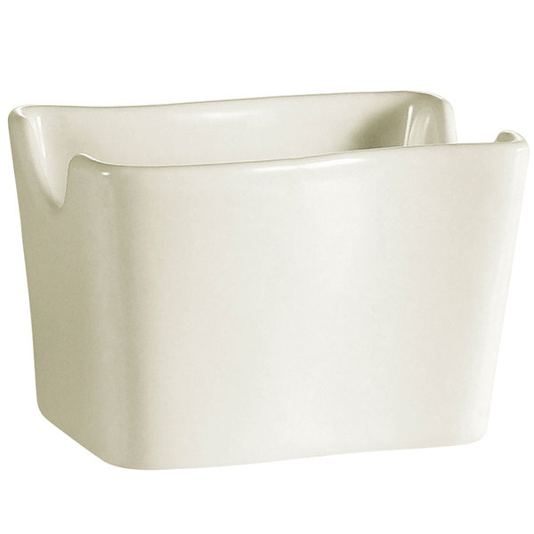 CAC SOH-HSP Soho Ivory (American White) Stoneware Sugar Packet Holder - 36/Case
