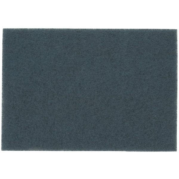 "3M 5300 14"" x 32"" Blue Cleaner Pad - 10/Case"