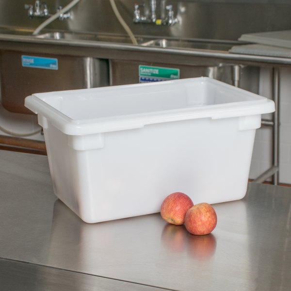 "White Poly Ice Transport Tote / Food Storage Box - 12"" x 18"" x 9"" Main Image 5"