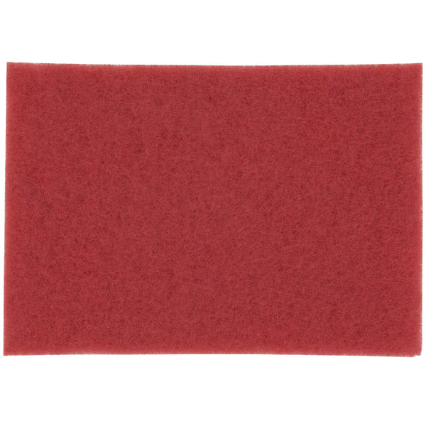 """3M 5100 14"""" x 32"""" Red Buffing Pad - 10/Case Main Image 1"""