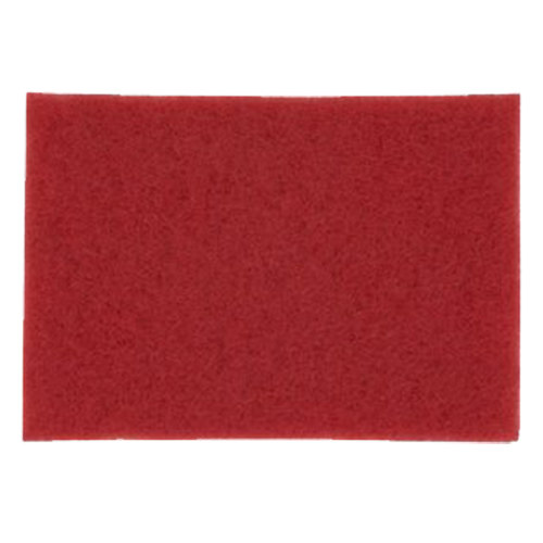 "3M 5100 14"" x 32"" Red Buffing Pad - 10/Case"
