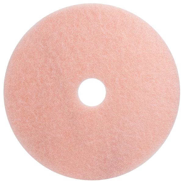 "3M 3600 Eraser 17"" Pink Burnishing Floor Pad - 5/Case Main Image 1"