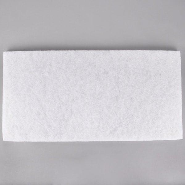 "3M 4100 14"" x 32"" White Super Polishing Pad - 10/Case"